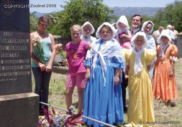 Monument op die graf van voortrekkerleier andries hendrik potgieter